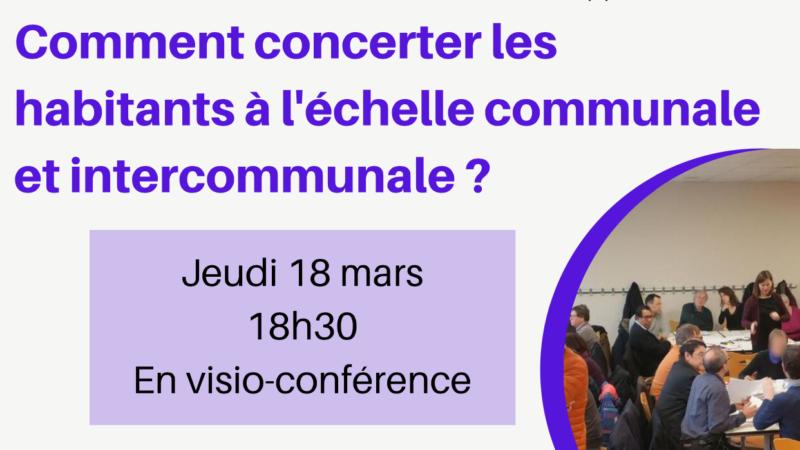 Invitation «comment concerter les habitants à l'échelle communale et intercommunale»