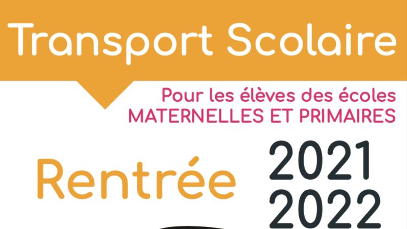Rentrée scolaire 2021.2022 – Informations transports scolaires