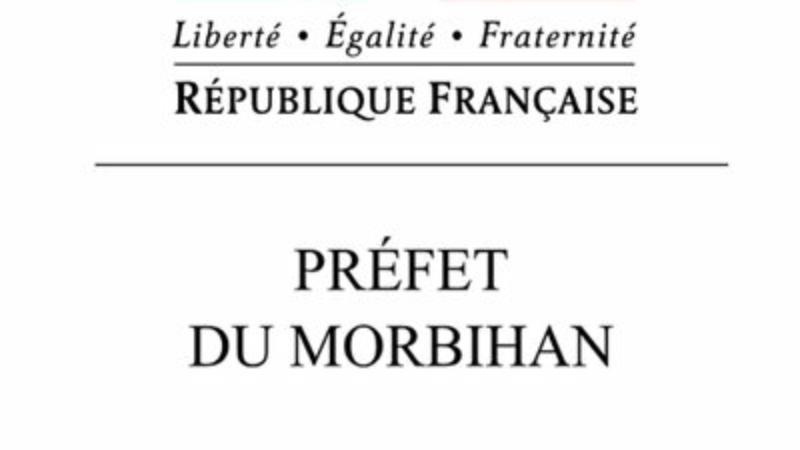 Message d'alerte de la préfecture du Morbihan
