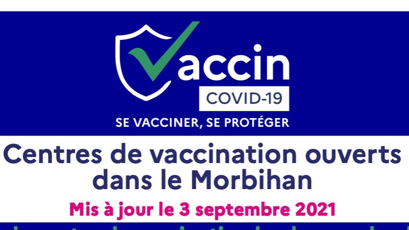 Centres de vaccination dans le Morbihan