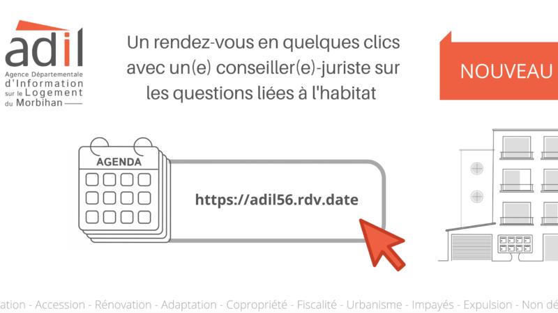 Mise en place d'un module de prise de RDV en ligne sur le site de l'ADIL 56